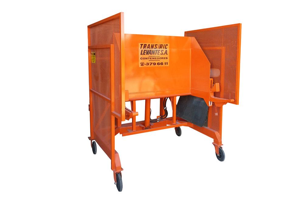 Volteador de contenedores de 600 a 1.200 lts
